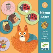 Djeco DJ08116 Lernspiele: Memo Tiere