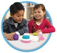 Goliath Toys 383341.006 Goliath Cupcakes-magischer Super Sand für Sandburgen im Kinderzimmer-Empfohlen ab 4 Jahren, Weiß