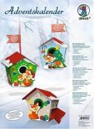 Adventskalender Vogelhäuschen, Füchse, 24 Geschenkboxen, ca. 9 x 9