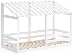 VitaliSpa 'Silvia' Hausbett, Weiß, 90x200cm, Massivholz Buche, inkl. Lattenrost und Rausfallschutz