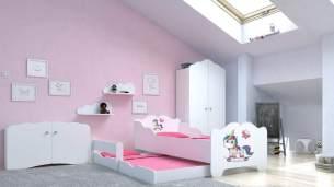Angelbeds 'Anna' Kinderbett 80x160 cm, Motiv E2, mit Flex-Lattenrost, Schaummatratze und Schubbett