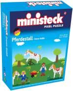 Ministeck 32551 - Pferdestall 4in1, ca. 500 Teile