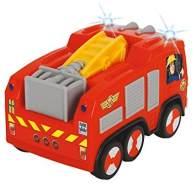 Dickie Toys Feuerwehrmann Sam Non Fall Jupiter, batteriebetriebenes Feuerwehrauto mit Runterfall-Stopp, fällt nicht vom Tisch, mit Toplicht, 14 cm