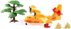 SIKU 1793, Löschflugzeug inkl. 1 Baum und 2 Feueraufsteller, Metall/Kunststoff, Gelb, Mit Wasser befüllbar
