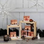 ROTH Adventskalender zum Befüllen - 24 Adventsboxen 'Hygge-Style' mit 24 Boxen zum befüllen