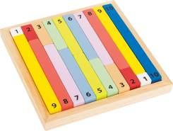 Small Foot 11167 Rechenstäbchen Holz, zum Lernen von Zahlen und Mathematik, Lernspielzeug, ab 4 Jahren. Educate Spielzeug, Mehrfarbig