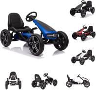 Moni Kinder Gokart Mercedes-Benz, EVA-Kunststoffreifen, Bremse, Musik, Pedale blau