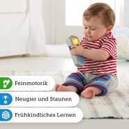 Fisher-Price DLD32 Lernspaß Fernbedienung Lernspielzeug mit +35 Wörter Liedern und Sätze mit Lautstärkeregler, ab 6 Monaten deutschsprachig