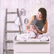 LULANDO Kapuzenbadetuch Kapuzenhandtuch Badetuch Bademantel Kapuzentuch aus Frottee 80x100 cm. Warmes und kuscheliges Frotteebadetuch für Babys und Kleinkinder inkl. Waschlappen