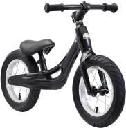 BIKESTAR Magnesium (superleicht) Kinderlaufrad Lauflernrad Kinderrad für Jungen und Mädchen ab 3 - 4 Jahre | 12 Zoll Kinder Laufrad Cruiser Ultraleicht | Schwarz | Risikofrei Testen