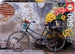 Educa Borras - Fahrrad Mit Blumen Puzzle, 500 Teile (17988)