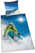 Herding Bettwäsche Skifahrer 135 x 200 cm Baumwolle