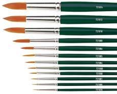 Kreul 721020 - Universalpinsel Basic Synthetics, für Kunst, Hobby, Schule und Großverbraucher, Besatz aus feinem Nylonhaar, rund, Größe 00