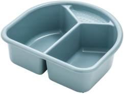 Rotho 'TOP' Waschschüssel lagoon, 2 Liter Fassungsvermögen, mit 2 Fächern und einer kleinen Ablage