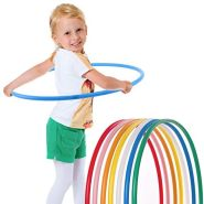 hoopomania® Kinder Hula Hoop Reifen, Durchmesser 65cm in gelb