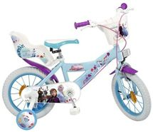 Toimsa Kinder Fahrrad 14 Zoll Frozen, inkl. Stützräder, Korb und Puppensitz