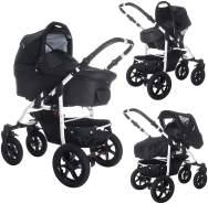 Bebebi Sidney | Luftreifen in Schwarz | 3 in 1 Kombi Kinderwagen Komplettset | Farbe: Perth
