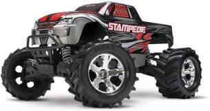 TRAXXAS Stampede 4x4 silber RTR +12V-Lader+Akku