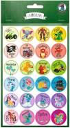 Ursus 59510020F Motivation, 96 Sticker mit motivierenden Worten für Kinder, selbstklebend, Durchmesser je ca. 2,5 cm, bunt