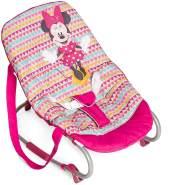 Hauck / Babywippe Rocky von Disney / Schaukelfunktion / verstellbare Rückenlehne, Sicherheitsgurt und Tragegriffe / ab Geburt bis 9 kg verwendbar / kippsicher und tragbar, Minnie Geo (Pink)
