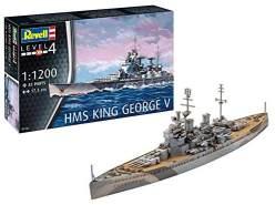 Revell REV-05161 HMS King George V Toys, Mehrfarbig, 1:1200 Scale