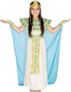 Mädchen Kostüm Cleopatra | Bezauberndes Kleid | inkl. Extravagantem Haarband + Handgelenkschmuck (5-7 Jahre | Nr. 300186)