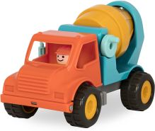 Battat – Betonmisch LKW mit Funktionen und beweglichen Teilen und Fahrer – Spielfahrzeug für Kleinkinder Ab 18 Monaten