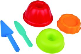 Hape E4055 - Backstube-Förmchen, Strandspielzeug/Sandspielzeug, mehrfarbig