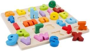 New Classic Toys Alphabetisches Puzzle Kleinbuchstaben Junior 30 cm Holz 27-teilig