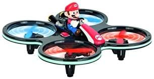 Carrera RC Mini Mario-Copter, Rot/Schwarz │ Ferngesteuerter Elektro-Helikopter für drinnen & draußen │mit Ersatz-Rotorblättern & Fernbedienung │ Spielzeug für Kinder ab 8 Jahren & Erwachsene