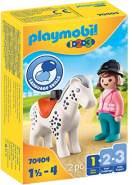 PLAYMOBIL 1.2.3 70404 'Reiterin mit Pferd', 2 Teile, ab 1,5 Jahren