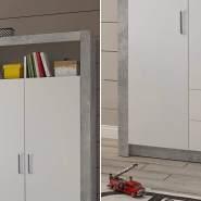 Bega 'Timo' Kleiderschrank beton/weiß 137 cm