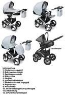 Camarelo CARERA NEW 3in1 mit Babyschale, Kombikinderwagen, Buggy Farbe CAN-6 hellblau / schwarz