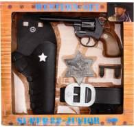 Schrödel J.G. Super 88 Junior: Spielzeugpistole und Pistolengürtel, in Geschenkebox, Western-Set, schwarz (195 0149)