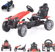 Byox Kinder Gokart, Tretauto, Matador, EVA-Kunststoffreifen, Bremse, ab 3 Jahren, rot