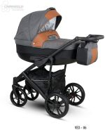 Camarelo Veo - Kombikinderwagen Farbe Veo-6 grau/schwarz