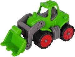 BIG - Power-Worker Mini Traktor - Fahrzeug geeignet als Sandspielzeug und für das Kinderzimmer, Reifen aus Softmaterial, perfekt für unterwegs, für Kinder ab 2 Jahren