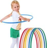 hoopomania® Kinder Hula Hoop Reifen, Durchmesser 80cm in blau