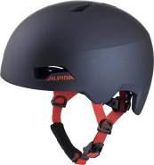Alpina Kinder HAGA Fahrradhelm, darksilver matt, 51 - 56 cm