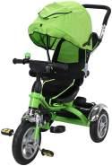 Kinderdreirad Kinderwagen Schieber Trike 7 in 1 Kinderbuggy Kinder Dreirad (Grün)