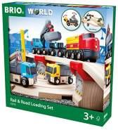 BRIO Bahn 33210 - Straßen & Schienen Steinverlade Set