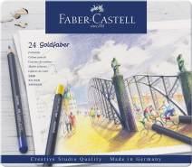 Faber-Castell   Farbstift perm. Goldfaber 24-Metalletui