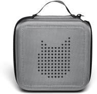 Tonies 'Tonie-Transporter' Transporttasche Anthrazit/Grau, Box zur Aufbewahrung von bis zu 20 Tonies Hörfiguren, leicht, abwaschbar, Reißverschluss, 17,5 x 17,5 cm