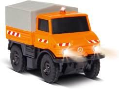 Carson 1:87 MB Unimog U406 Kommunal 100% RTR, ferngesteuertes Fahrzeug, fahrfertiges Modell, mit LED Beleuchtung und schaltbarer Warnleuchte, sehr Kleiner Wendekreis, perfekt für Dioramen, 500504125