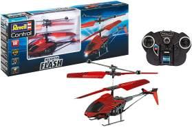 Revell Control 23814 RC Helicopter Flash für Einsteiger, einfach zu fliegen, Gyro, 2-Kanal IR-Fernsteuerung, Indoor-Flugmodell Ferngesteuerter Hubschrauber, Rot/Schwarz