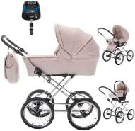 Friedrich Hugo Natureline Uni | 4 in 1 Kombi Kinderwagen | ISOFIX Set | Farbe: Hugo Silver