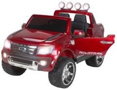 Kinder Elektroauto Ford Ranger SUV Kinderauto Elektrofahrzeug Elektro Spielzeug (Weinrot/lackiert)
