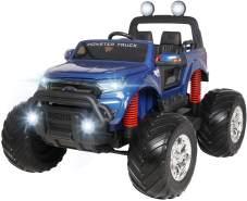 Kinder Elektroauto Ford Ranger Monster Truck XXL SUV 4x4 Elektrofahrzeug Elektro (Blau lackiert)