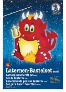 Ursus 18700042 - Laternen Bastelset, Teufel, ca. 21,8 x 21 x 10,3 cm, Durchmesser ca. 21,8 cm, inklusive Vorlagebogen mit Bastelanleitung, zum Selbstgestalten, ideal für den nächsten Laternenlauf