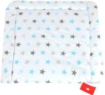 BABYLUX Wickelauflage Baby Wickeltisch Wickelunterlage 80x70 cm 94 - Sterne Blau